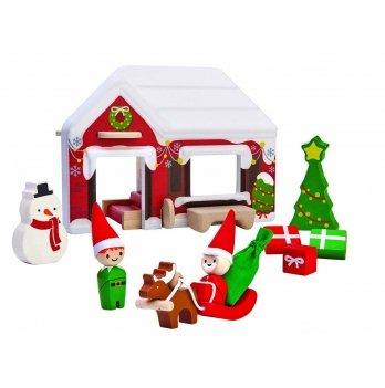 Деревянный игровой набор PlanToys® Домик Деда Мороза