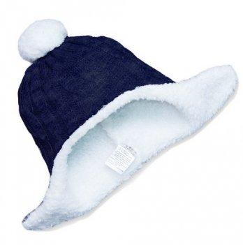 Шапочка зимняя Бетис Сніжок-2, темно-синяя