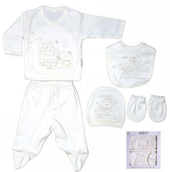 Комплект для новорожденного Bebitof Baby, в коробке, 5 предметов, белый