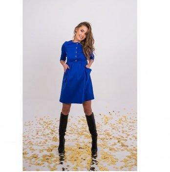Платье для беременных и кормящих To Be Синий 4136392