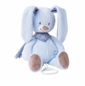 Мягкая игрушка с музыкой Nattou, кролик Бибу, 28см