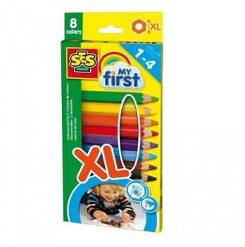 Набор восковых цветных карандашей Ses серии My first Радуга