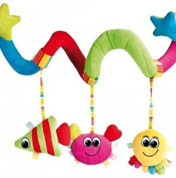 Игрушка в коляску или кроватку Canpol babies Спираль плюшевая Цветной океан