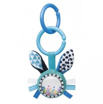 Игрушка плюшевая с погремушкой Canpol babies Zig Zag, 0+, голубой кролик
