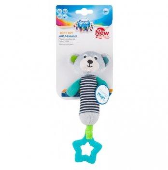 Игрушка плюшевая с пищалкой и зубогрызкой Canpol babies Bears, 0+, серая