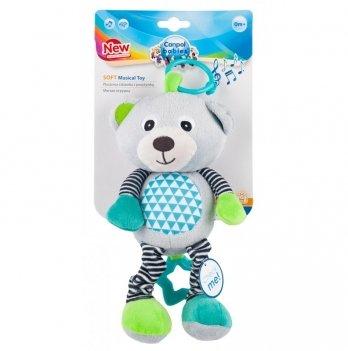 Музыкальная игрушка плюшевая Canpol babies Bears, 0+, серая