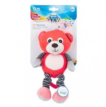 Игрушка плюшевая музыкальная Canpol babies Bears, 0+, коралловая