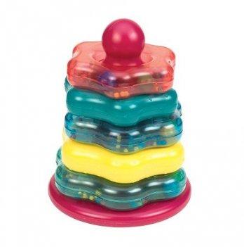 Развивающая игрушка Battat Lite Цветная пирамидка из 7 предметов