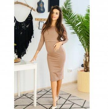 Платье для беременных и кормящих To Be Мокко 4139001