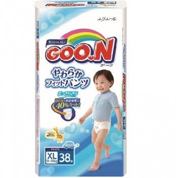 Трусики-подгузники GOO.N для мальчиков 12-20 кг, размер Big (XL), 38 шт
