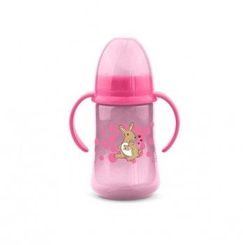 Тренировочная чашка c мягким носиком Nuvita 6м+, 250 мл, розовая
