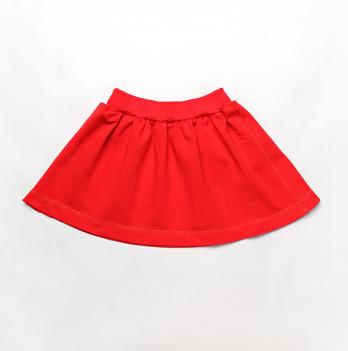 Юбка для девочки Модный карапуз, трикотаж, красная