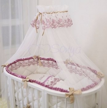 Балдахин на кроватку Маленькая Соня RicciБелый/Розовый 53009