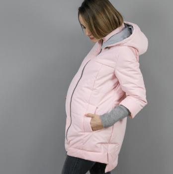Слингокуртка еврозима 3 в 1 для беременных и кормящих мам Nurmes Lullababe розовый