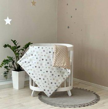 Плед конверт для новорожденных Маленькая Соня Stars серо - бежевый Бежевый 10500433