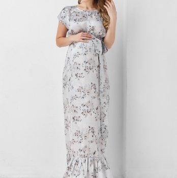 0f677a140f2d94b Платье для беременных Dianora серое макси 1937 0001