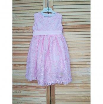 Платье Flavien с вышивкой, розовое