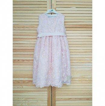 Платье Flavien с вышивкой, пыльная роза
