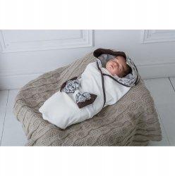 Трикотажный конверт-плед для новорожденных Изысканность Magbaby кофе