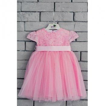 Платье Flavien бальное с фатином, розовое