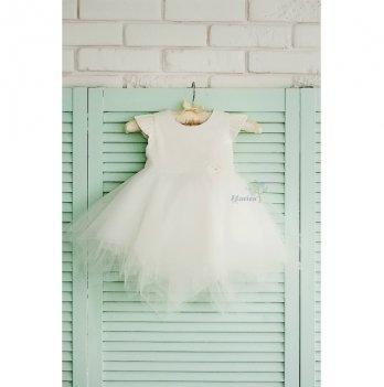 Платье с повязкой Flavien молочное