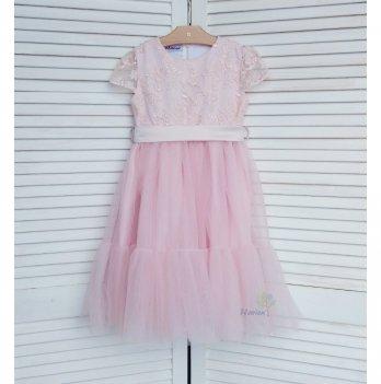 Платье-волан Flavien с фатиновой юбкой, розовое