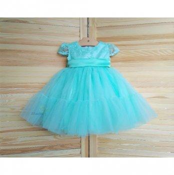 Платье-волан Flavien с фатиновой юбкой, ментоловое