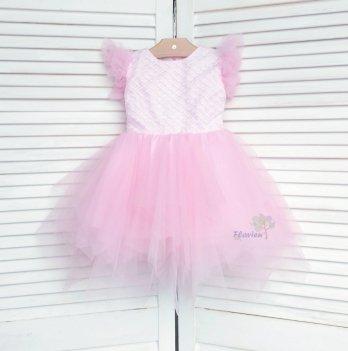 Платье Flavien с фатиновой юбкой, розовое 7026/01