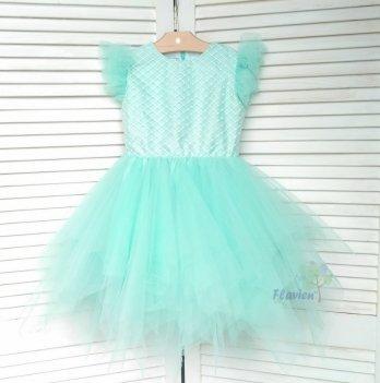 Платье Flavien с фатиновой юбкой, ментоловое 7026/03