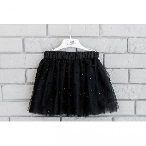 Юбка для девочки Flavien фатиновая с бусами, черная