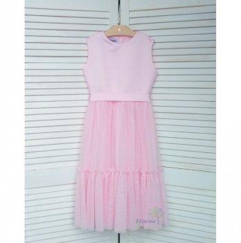 Платье удлиненное Flavien розовое