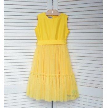 Платье удлиненное Flavien желтое