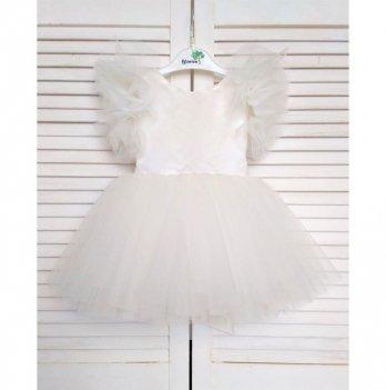 Платье нарядное Flavien, молочное
