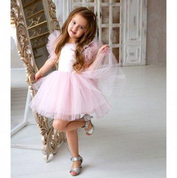 Платье нарядное Flavien, пудровое