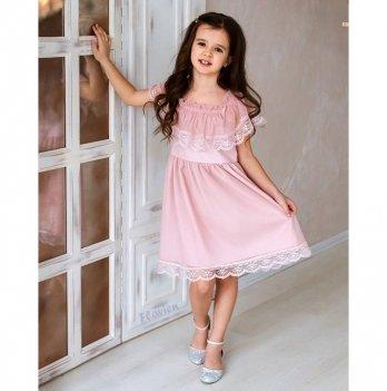 Платье нарядное для девочки Flavien, пудровое