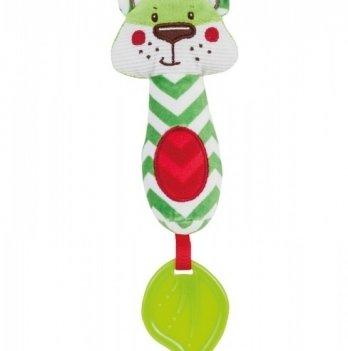 Игрушка-пищалка с прорезывателем Canpol babies Лесные друзья, плюшевая