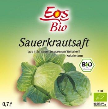Органический сок из квашеной капусты Eos Bio, 700 мл