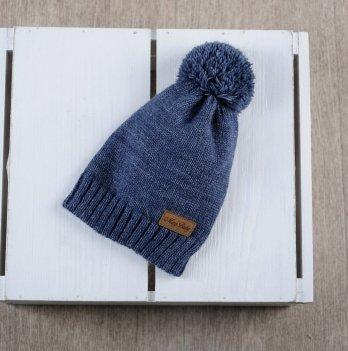 Вязаная шапочка Lucky Magbaby синий