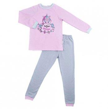 Пижама детская теплая Sweet Mario Розовый/Серый 3-28-7