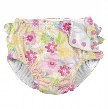 Трусики для плавания I Play 711150-447 Yellow Watercolor Floral