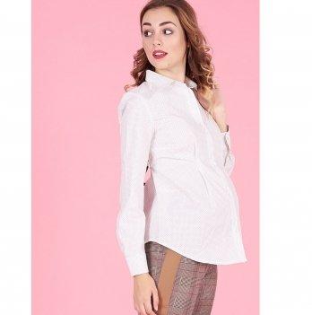 Рубашка для беременных To Be Белый горошек 1308224