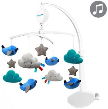 Мобиль музыкальный BabyOno Тучки и самолетики, синий