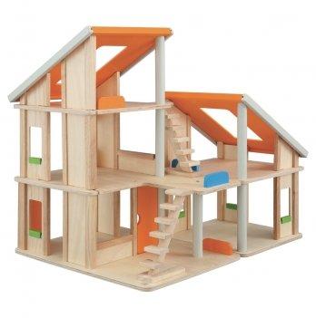 Деревянная игрушка PlanToys® Кукольный домик Шале без мебели