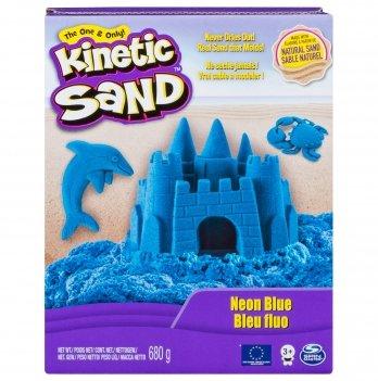 Песок для детского творчества Wacky-Tivities Kinetic Sand Neon (голубой)