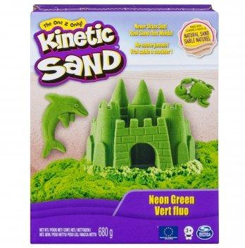Песок для детского творчества Wacky-Tivities Kinetic Sand Neon (зеленый)