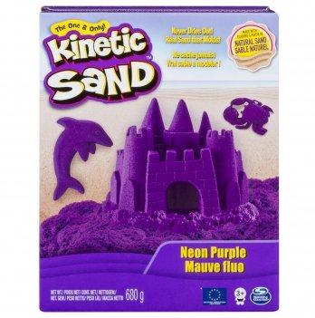 Песок для детского творчества Wacky-Tivities Kinetic Sand Neon (фиолетовый)