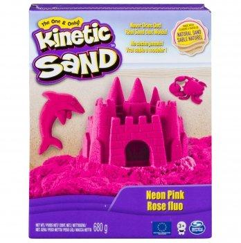 Песок для детского творчества Wacky-Tivities Kinetic Sand Neon (розовый)