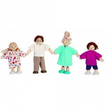 Деревянный игровой набор PlanToys® Современная кукольная семья