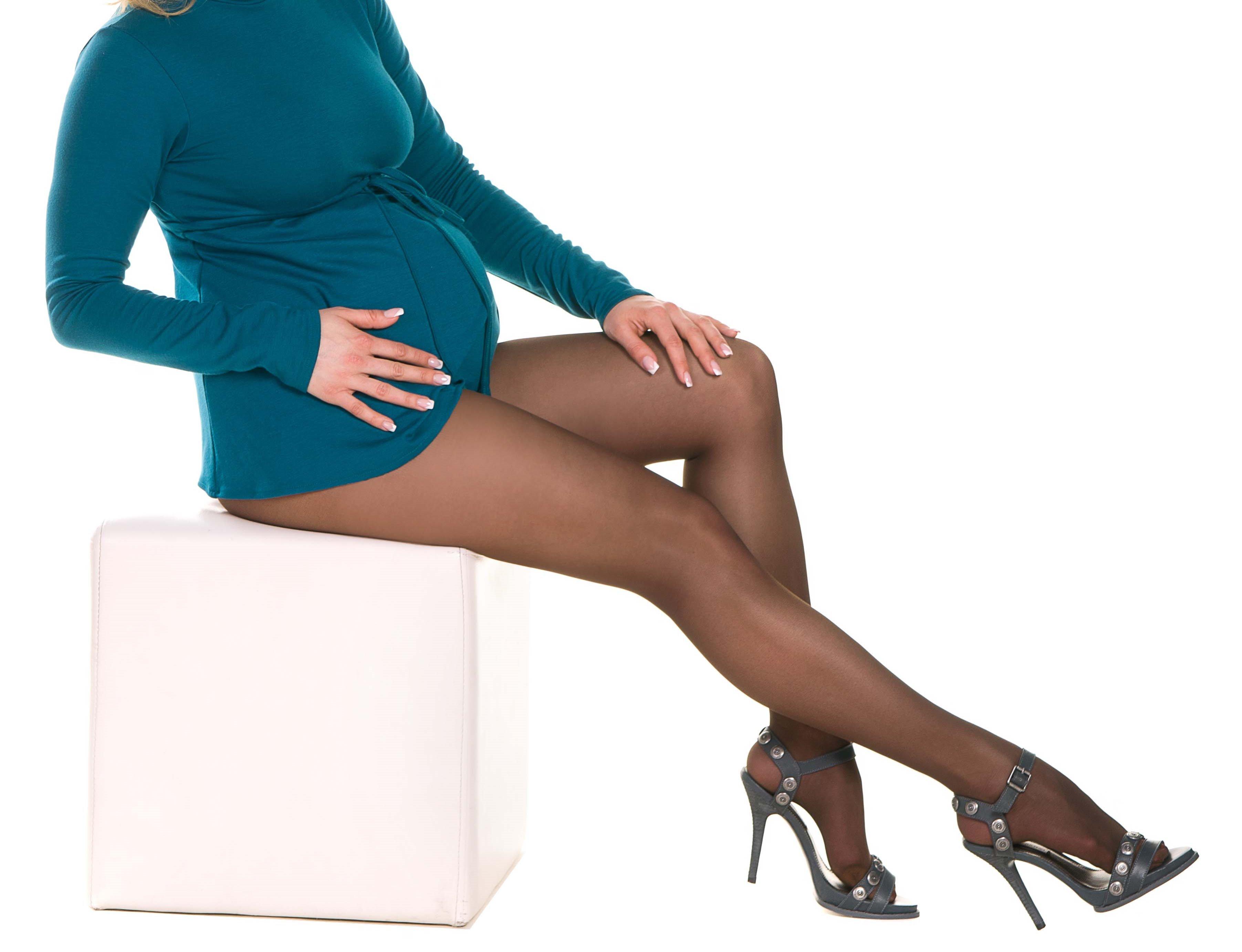 Колготки для беременных MammaLux fitnes с утяжкой по ноге 40 den капучино, 715