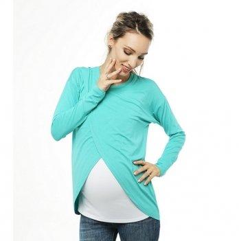 Топ с запахом для беременных и кормящих мам Love & Carry® Ментоловый